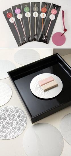 新ブランド「誉」。日本の文様をかたどったペンダント、箸置き、ストラップ、菓子皿など