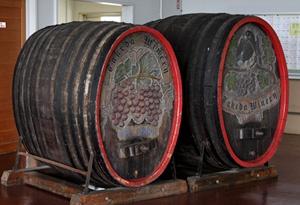 タケダワイナリーのワイン樽