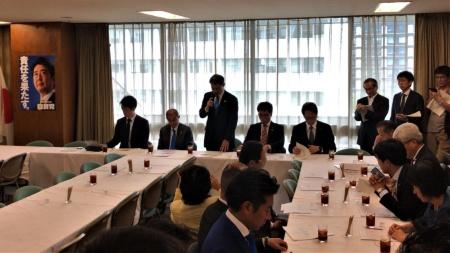 10月1日に開催した自民党「再生可能エネルギー普及拡大議員連盟」