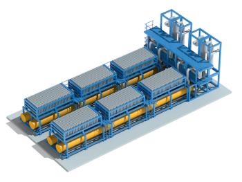 図2●アルカリ型電解装置のイラスト