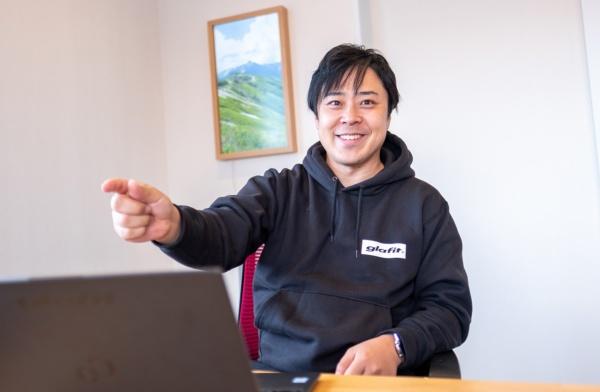 glafit代表取締役CEOの鳴海禎造氏(撮影:小口正貴)