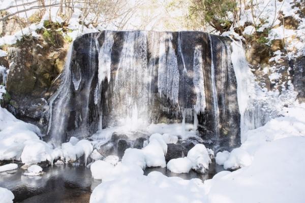 フドウタキングのモチーフとなった達沢不動滝。