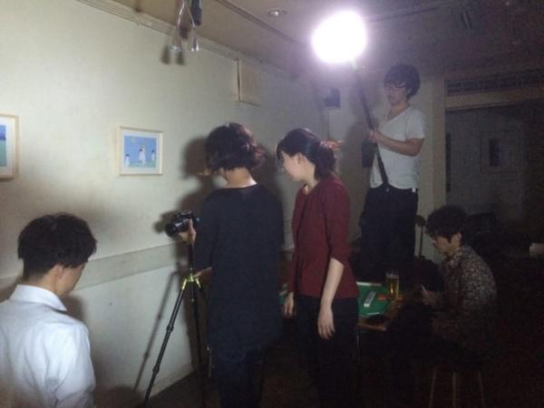 『青春のリグレット』撮影風景(写真提供:巡る×シネマ×カフェ実行委員会)