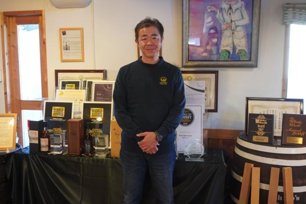 ベンチャーウイスキー代表取締役社長の肥土伊知郎さん(写真:塩見なゆ)
