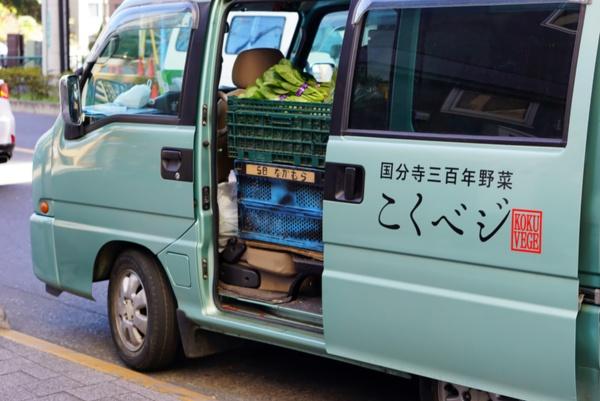 野菜の配達に使用する「こくベジ号」(写真撮影:SWITCH KOKUBUNJI)