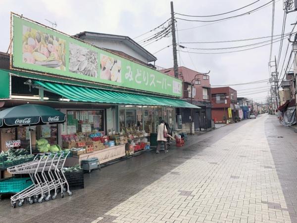 庄和銀座商店会の外れに建つ「みどりスーパー」の外観(写真:筆者)