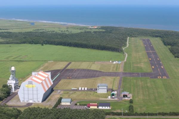 太平洋に面し、東側と南側に向けてロケットの打ち上げが可能な大樹町多目的航空公園(写真提供:大樹町)