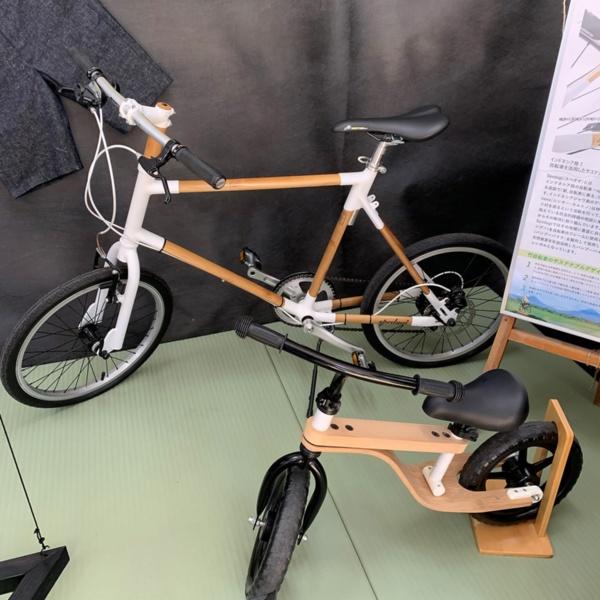 宇部市に本拠を置くデザイン会社のオープンハウスも竹LABOに参加している。同社は竹を素材に活用した自転車の製造を進めている(写真撮影:筆者)