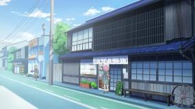 主人公の豊川姫乃の自宅は、多治見本町オリベストリートに実在する店舗がモデルとなっている。本町オリベストリートは多治見観光の中心地だ(写真:バウム、資料提供:日本アニメーション)