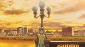 レトロで特徴的な街灯を備えた多治見橋。作品中では主人公たちが、登下校などで幾度となく往復する(写真:バウム、資料提供:日本アニメーション)