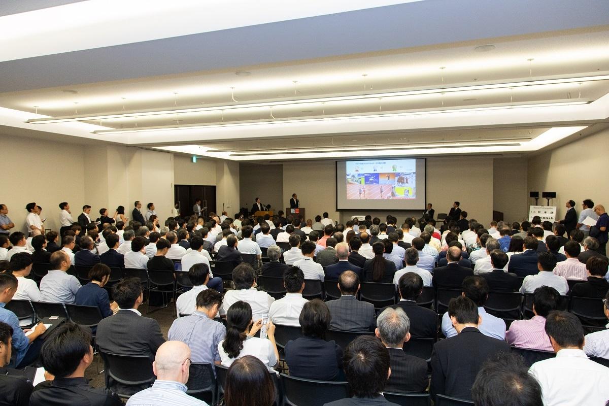 (写真)グランフロント大阪のナレッジキャピタルコングレコンベンションセンター。2018年8月には主要都市で毎年主催している「スポーツビジネスジャパン2018 together with スタジアム&アリーナ2018」を開催した(画像提供:コングレ)