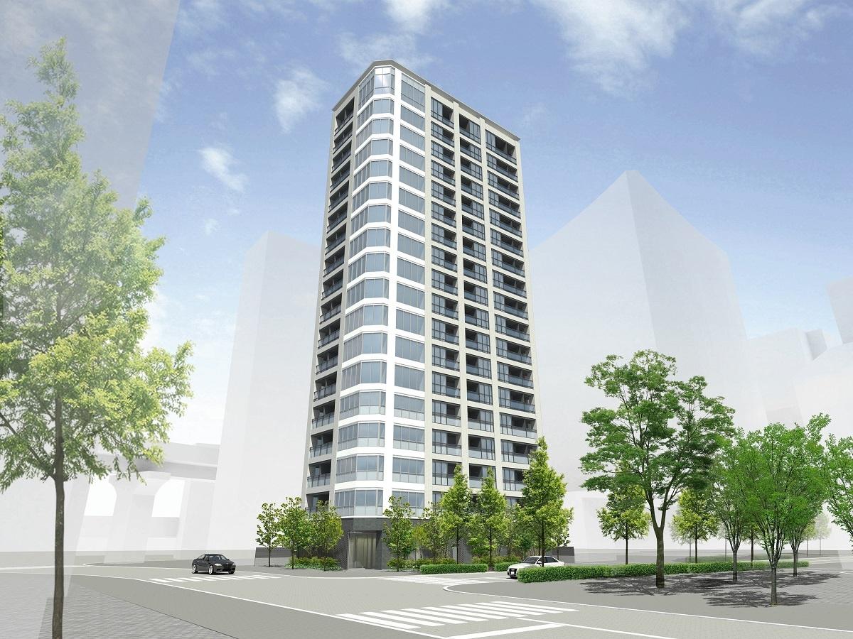 (図1)浜松町ビジネスマンション建て替え後の完成イメージ。間取りは、建て替え前の中心だったワンルームに加え、1LDKや2LDKも用意する(画像提供:三井不動産レジデンシャル)