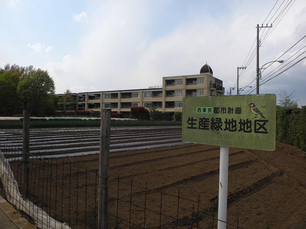 (写真1)西東京市内の生産緑地。市内の北東部と南西部に点在する。中には「災害時協力農地」として緊急の避難場所に利用できる農地もある(写真:茂木俊輔)