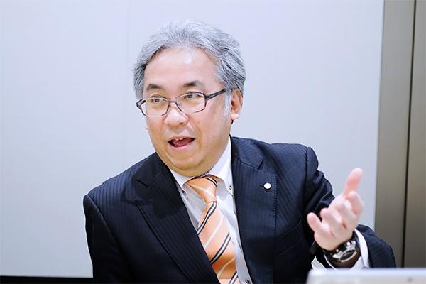 花王 マテリアルサイエンス研究所2室 主席研究員 坂井隆也氏(写真:小口正貴)