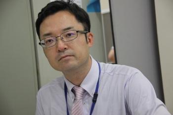 環境政策課主任の安彦直人さん(写真:小野里 保徳)