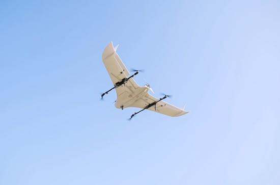 実証実験で使われたe-VTOL(電動垂直離着陸機)