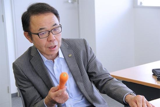 マクタアメニティ代表取締役の幕田武広氏。「やはり大きな転機は東日本大震災の放射能災害です。国民の食の安心や情報化への認識が変わりました」と語る(写真:中島有里子、以下同じ)