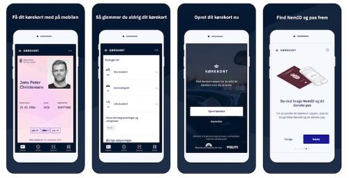 デジタル運転免許証のアプリイメージ(出典:Kørekort App Store)
