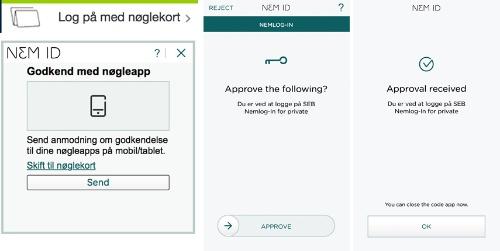 NemIDアプリに承認を申請し、完了すると行政システムへのログインが可能になる(写真提供:針貝有佳)