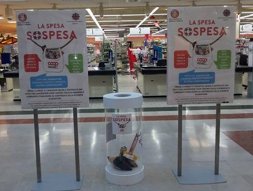大手スーパーCoop Centro Italiaのスペーザ・ソスペーザの回収スペースの様子(写真提供:Coop Centro Italia)