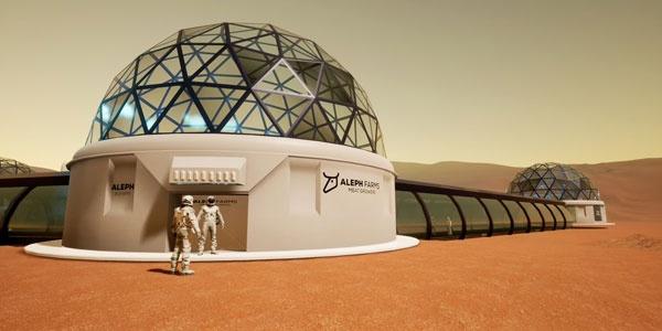 Aleph Farmsが提案する培養肉プラント。砂漠でも火星でもどこでも新鮮な肉を提供できるという(写真提供:Aleph Farms)