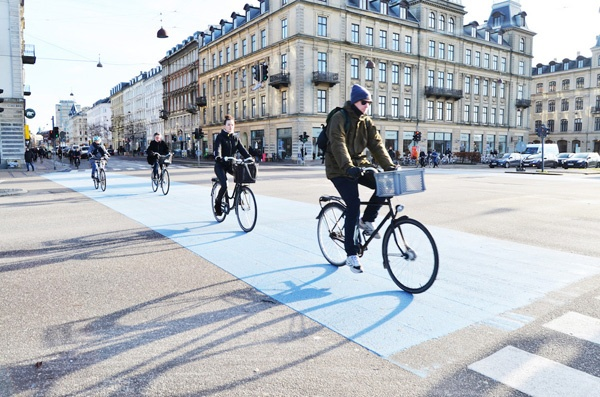 自転車利用者に優しいコペンハーゲンの街
