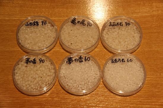 数字は精米歩合の%。吟醸香溢れる焼酎になる所以だが、蒸留酒造りでこのように米を削るのは珍しい