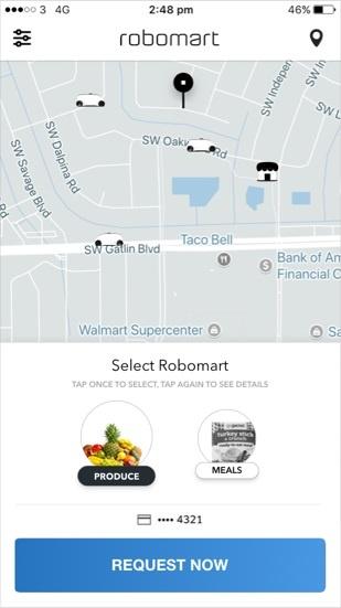 (図1)Robomartを呼び出す専用アプリ