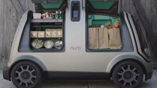 (写真5)Nuroが開発したデリバリーロボット「R1」