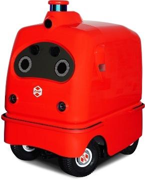 (写真6)ZMPが開発したデリバリーロボット「CarriRo Delivery」