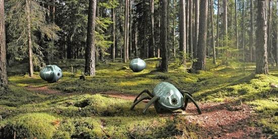 (写真1)Madgeburg-Stendal大学で研究されている昆虫型消防ロボット「OLE」のイメージ