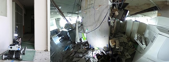 (写真5)倒壊の危険があるため、人間の代わりに宇土市役所に入る「Sakura」