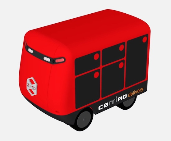 (写真3)ZMPの宅配ロボットCarriRo Delivery