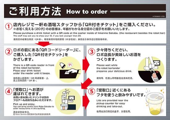 (写真2)「ゼロ軒めロボ酒場」でのオーダーの仕方(養老乃瀧のプレスリリースより引用)