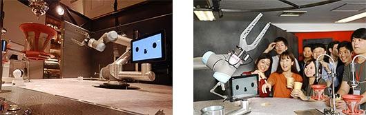 (写真3)「Cave de Terreエビスタ西宮店 カフェロボット」で使用されるおもてなしロボット(阪急阪神ホールディングスのプレスリリースより引用)