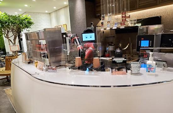 (写真4)HIS渋谷本店内に常設された「変なカフェ」(撮影:元田光一)