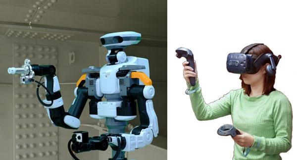 (写真2)建設現場で多岐に渡る測定業務をテレワーク化するアバターロボット(川田工業、芝浦工業大学、川田テクノロジーズのプレスリリース画像)
