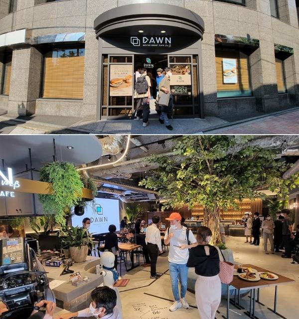 (写真3)分身ロボットによってテレワークで接客する「分身ロボットカフェ DAWN ver.β常設実験店」(撮影:元田光一)
