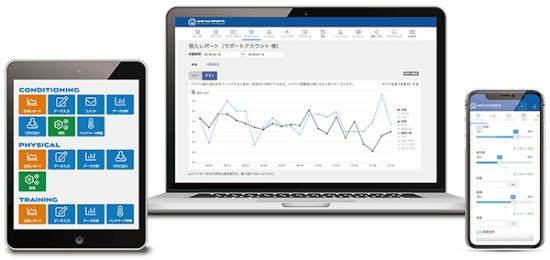 コロナ禍でニーズが増えているコンディション管理ソフト「ONE TAP SPORTS(ワンタップスポーツ)」の画面イメージ(画像提供:ユーフォリア、以下同)