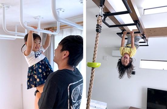 施工例の一部。外出の機会が少なくなった子どもたちにとっては楽しい仕掛けだ(写真提供:スチール空間設計)