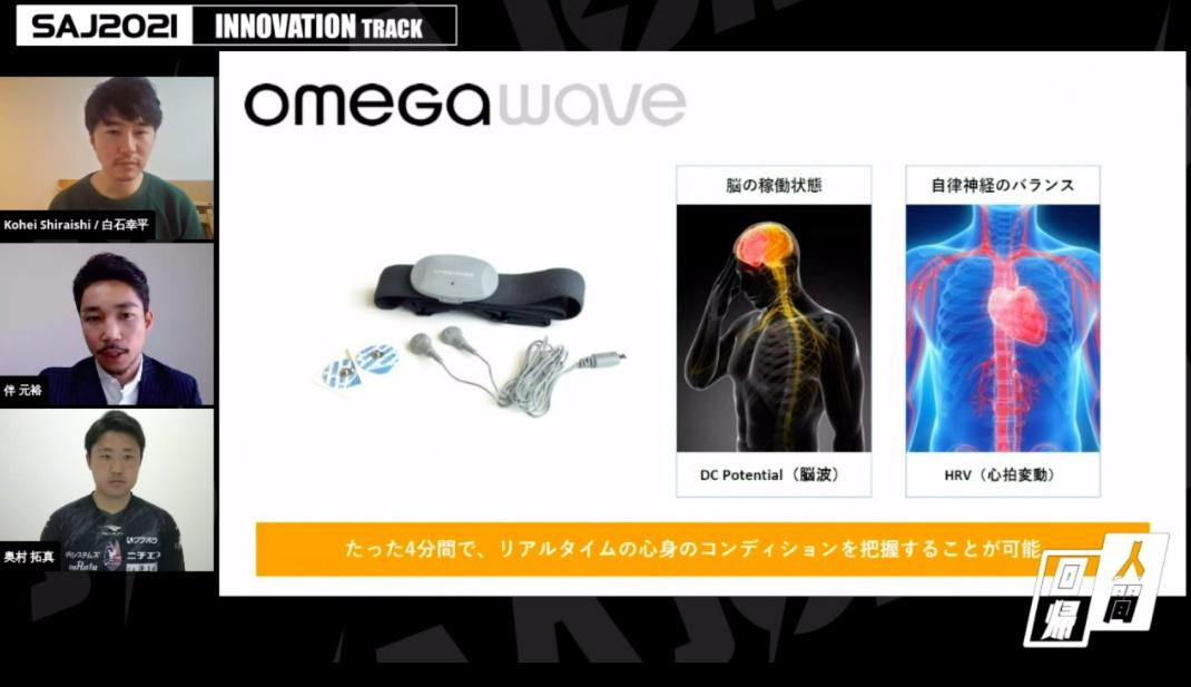 フィンランドのOmegawaveが開発した「Omegawave」。額と胸に装着して4分間安静にしながら脳波と心拍変動を測定することで、集中の状況などメンタルデータを可視化する (画像:SAJ)