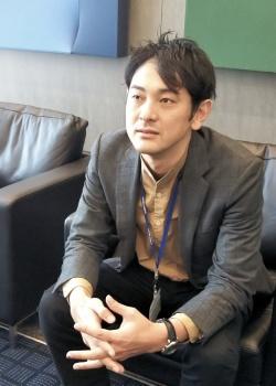永瀬秀格・アーキテクト部門BASE3主任(新国立競技場設計担当)(写真:筆者)