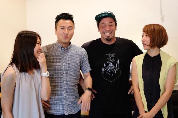 デジリハのメインチーム。左から野呂氏、金箱氏、岡氏、加藤氏