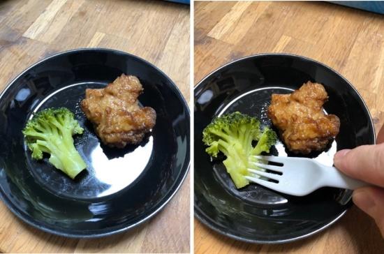 デリソフターで調理するとフォークで簡単に形が崩れる(画像提供:ギフモ)