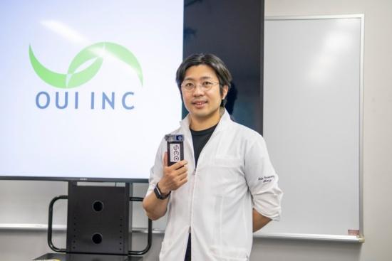 OUI Inc.代表取締役の清水映輔氏(写真:小口正貴)