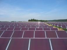 ドイツに設置された三菱重工業のアモルファスシリコン太陽電池(出所:三菱重工業)