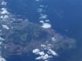 段差のある土地を、あえて傾斜に造成した、福江島のメガソーラー