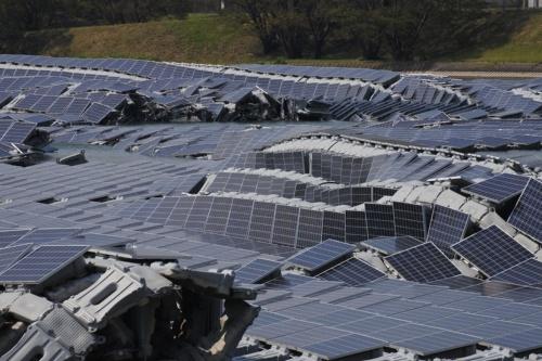 Damaged Koyera 13.7 MWp Floating Solar Power  Plant