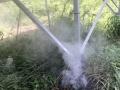 野焼きのような白煙、原因は台風で引っ張られた電線のアーク