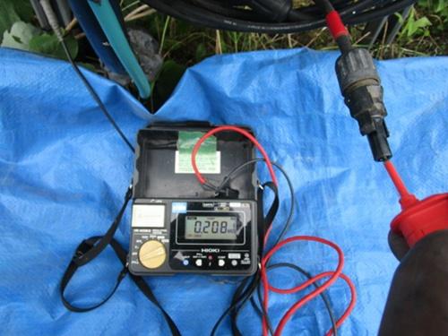 図1●直流回路の絶縁抵抗値が約0.2MΩと極端に低かった